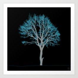 Electric Tree 02 Art Print