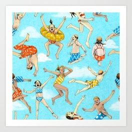 Pool Rats Art Print