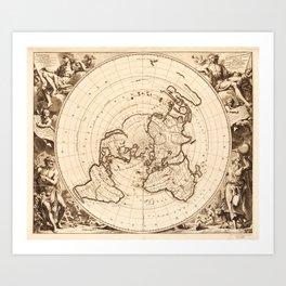 World Map circa 1713 (Planisphere terrestre) Art Print