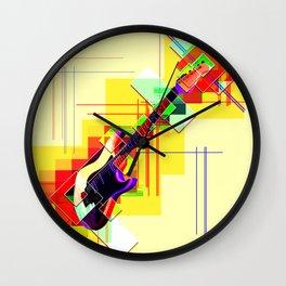Sounds of music. Guitar. Wall Clock