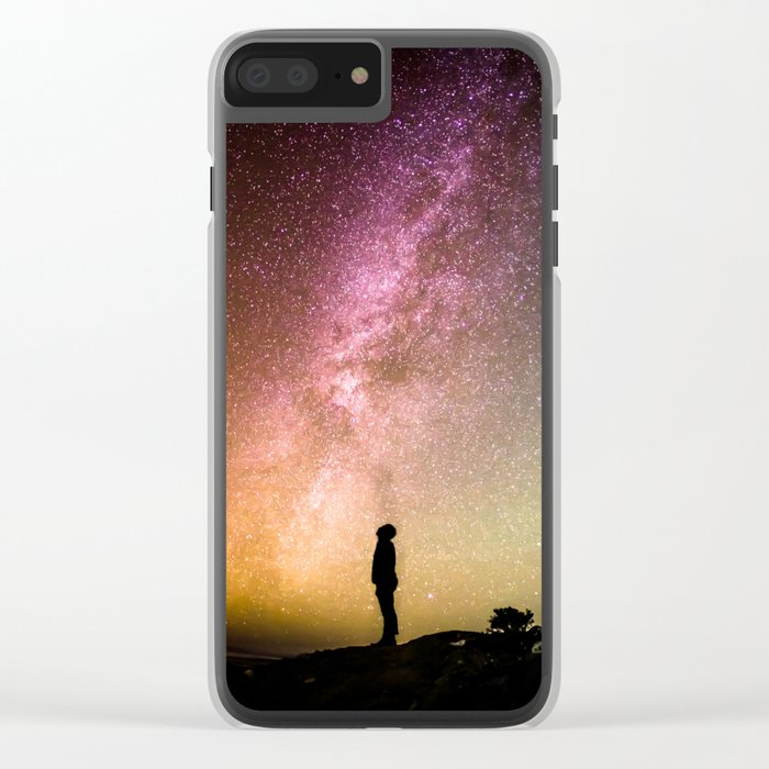 Galaxy Explorer Clear iPhone Case