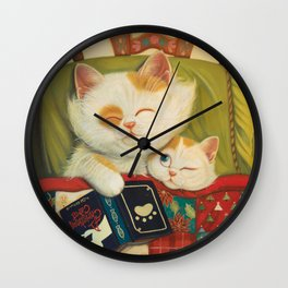 The cozy moment Wall Clock
