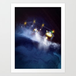 Search and rescue are night Art Print