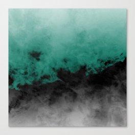 Zero Visibility Emerald Canvas Print