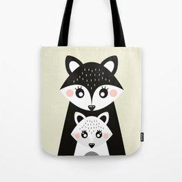 Scandinavian Mother and baby Fox Tote Bag
