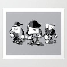 Computer Mafia Art Print