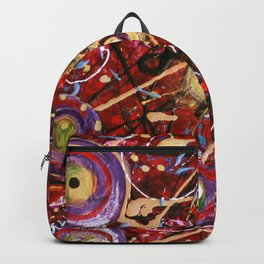 Crazy Universe Two Abstract Painting Backpack