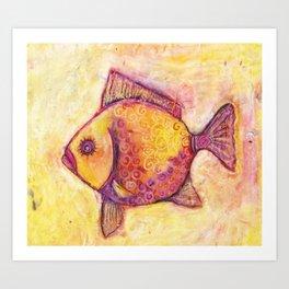 Fish One Pillow Art Print