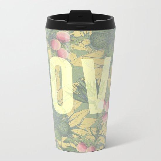 Love and Peaches Metal Travel Mug