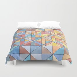Triangle Pattern no.16 Pastels Duvet Cover