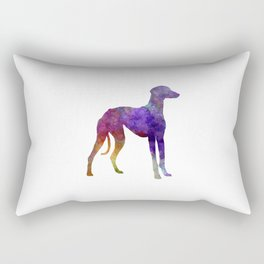 Arabian Greyhound in watercolor Rectangular Pillow