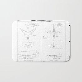 Douglas A-3D-1 Skywarrior Schematic Bath Mat