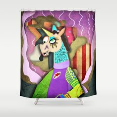 Collage Unicorn Shower Curtain