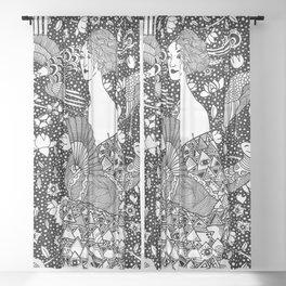 Gustav Klimt - Lady with fan Sheer Curtain