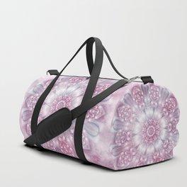 Dreams Mandala in Pink, Grey, Purple and White Duffle Bag