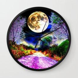 Moonlight Pathway Wall Clock