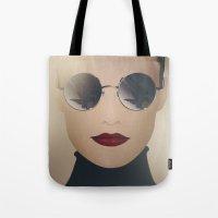 ferrari Tote Bags featuring Ferrari Girl by Seventy Two Studio