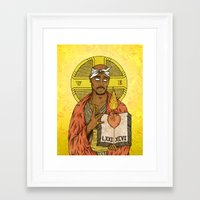 tupac Framed Art Prints featuring Tupac by GRZNYC