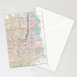 Vintage Map of Jersey City and Hoboken (1886) Stationery Cards