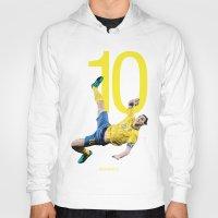 zlatan Hoodies featuring Zlatan Ibrahimović Sweden Bicycle Kick Print by graphics17