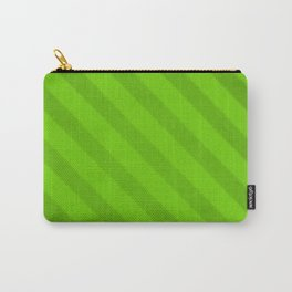 Vintage Candy Stripe Lime Green Grunge Carry-All Pouch