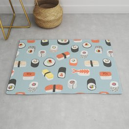Sushi Roll Maki Nigiri Japanese Food Art Rug