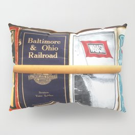 Original Early 1900s American Train Time Tables (RARE) Pillow Sham