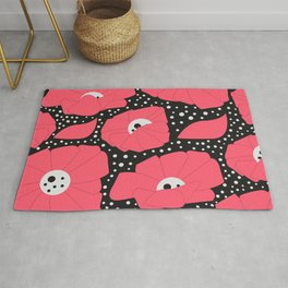 Poppies and dots Rug