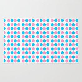 pink and blue polka dot-polka dot,pattern,dot,polka,circle,disc,point,abstract,minimalism Rug