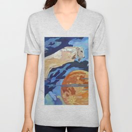 The Cow Jumped Over the Moon Unisex V-Neck