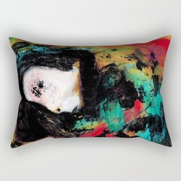 Trapped in the Thought Prison Rectangular Pillow