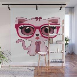 Kitten Nerd Wall Mural