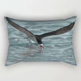 Hungry Black Skimmer Ocean Bird Rectangular Pillow
