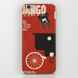 Django Unchained, Quentin Tarantino, alternative movie poster, Leonardo DiCaprio, Jamie Foxx iPhone Skin