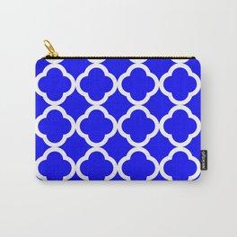 Cobalt Quatrefoil Carry-All Pouch