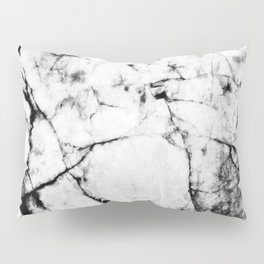 Marble Concrete Stone Texture Pattern Effect Dark Grain Pillow Sham
