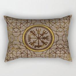 Vegvisir. The Magic Navigation Viking Compass Rectangular Pillow