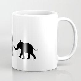Elephants - Silouette Coffee Mug