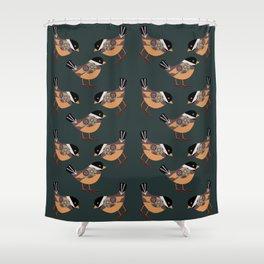 Forest Bird Pattern  Shower Curtain