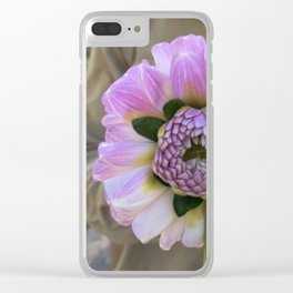 Violet Twin Dahlia Clear iPhone Case
