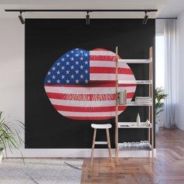 American smooch Wall Mural