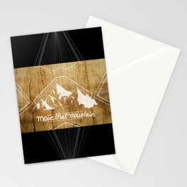 Move the mountain Stationery Cards