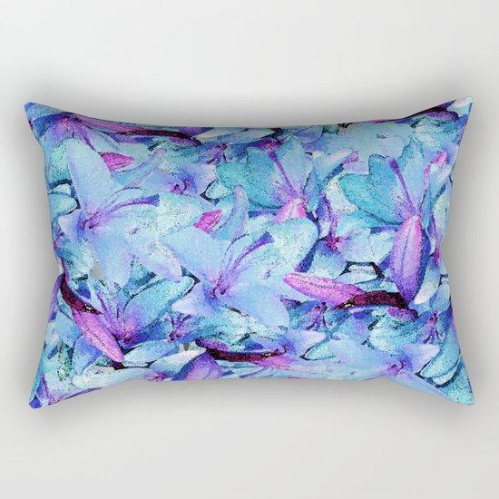LILY BOUNTIFUL BLUE Rectangular Pillow