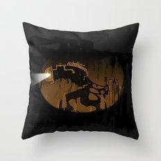 oil monster Throw Pillow