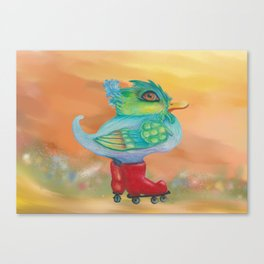 a skating snozzleberryduck day in autumn Canvas Print