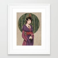 chinese Framed Art Prints featuring Chinese by Nara Navy