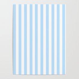 Classic Seersucker Stripes in Blue + White Poster
