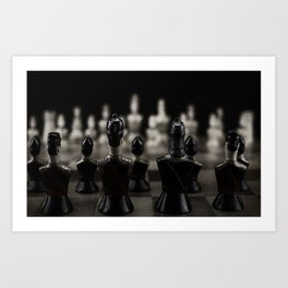 Chess pieces Art Print