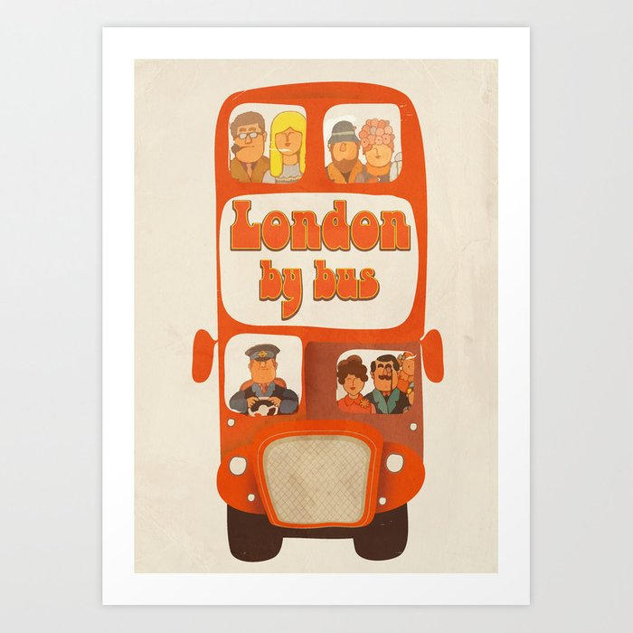 London By Bus Art Print