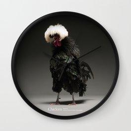 Chic!ken - Black Polish Wall Clock
